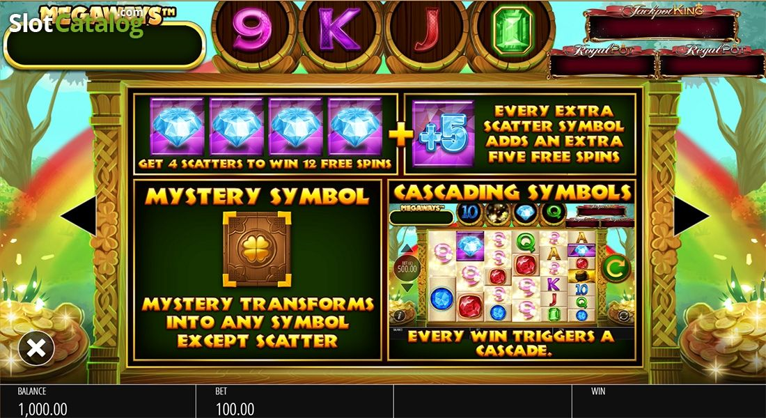 Paytable 3 Irish Riches Megaways Video Slot From Blueprint