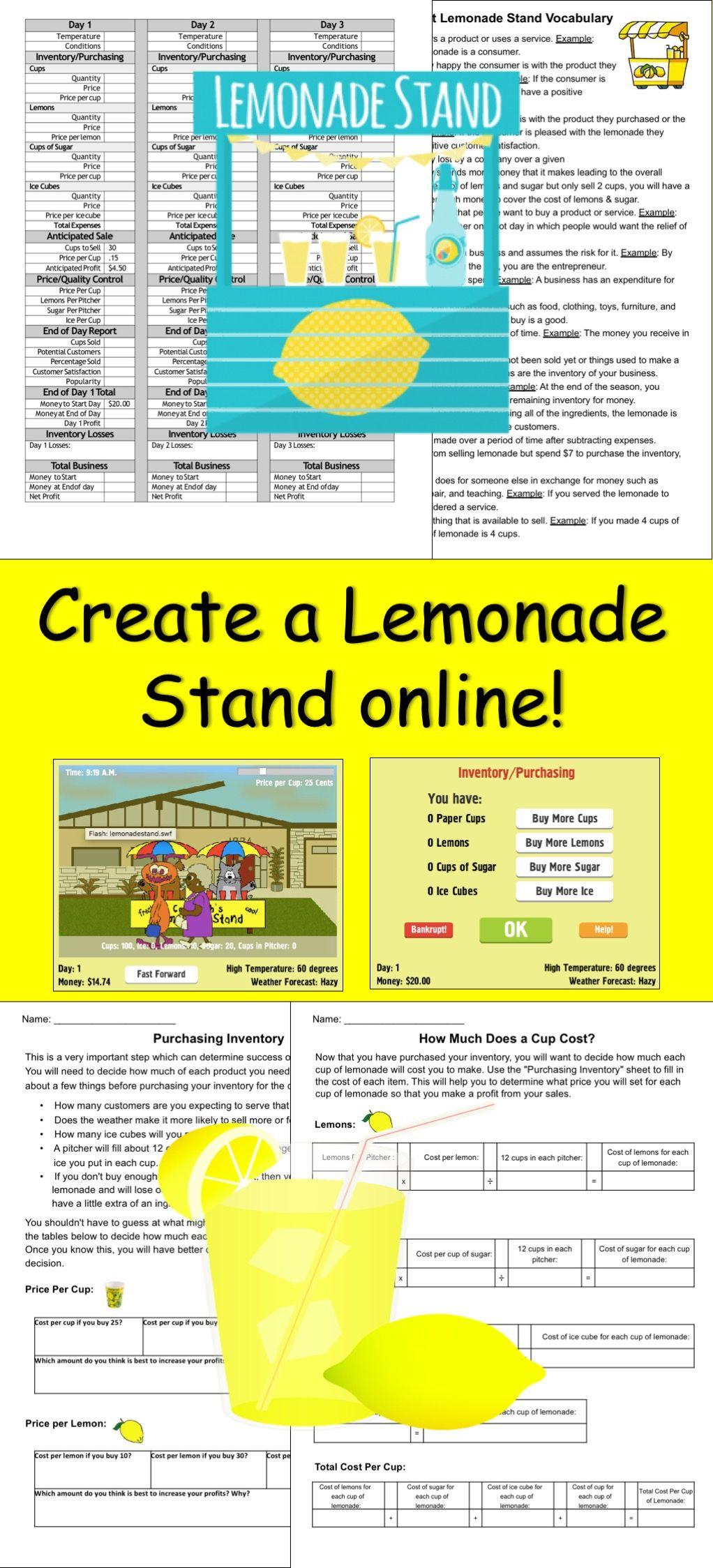 Lemonade Stand A Great Math