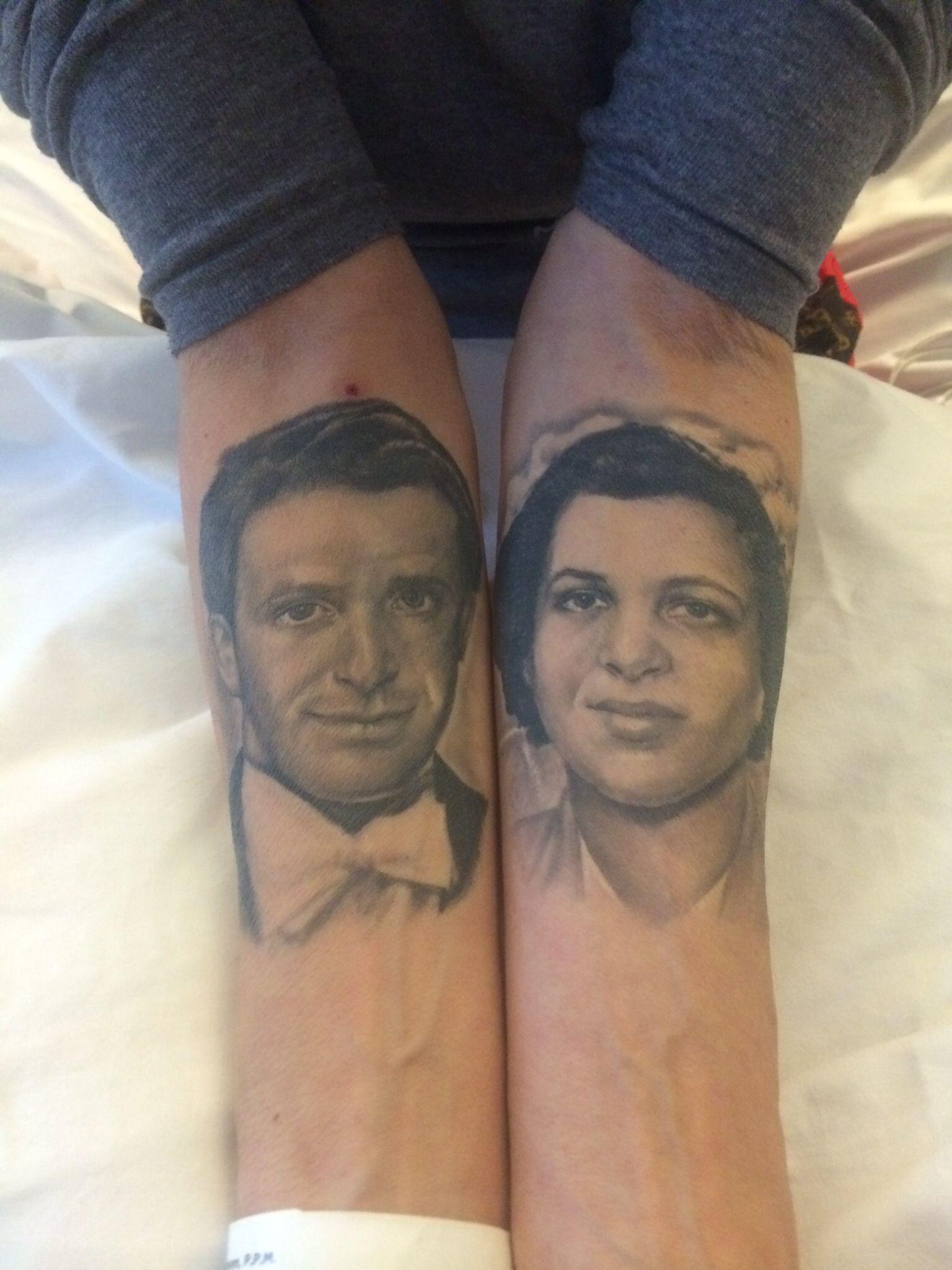 My Mam And Dad Tattoo By Artist Lillian Dekker