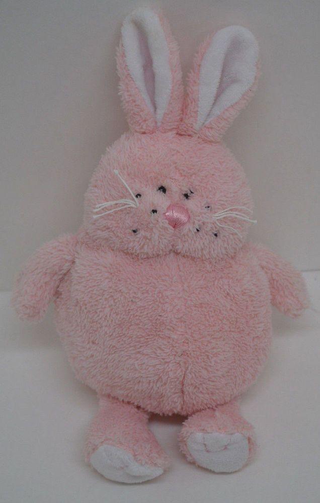 Ganz Bunny Rabbit Chubbs Plush Pink Chubby Bean Bag Bottom 11\