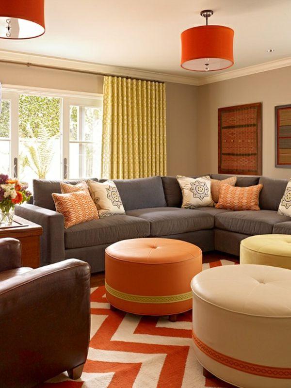 Teppich Orange Creme Kombination KombinationMusterFarbenZuhause WohnzimmerCremeNeue