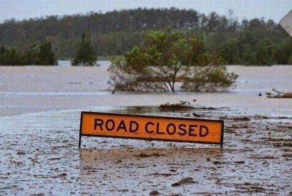 Cartel inundado