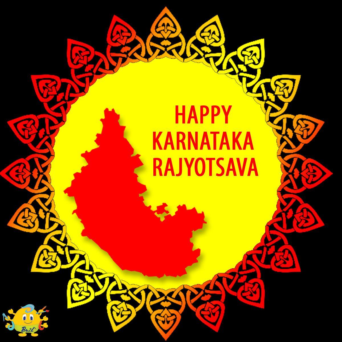 Happy Karnataka Rajyotsava Day! Stationery, Happy, Children