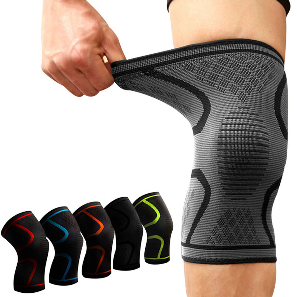 Elastic Knee Protection Sports Support Bandage In 2020 Knee Compression Sleeve Knee Support Sleeve Knee Support Braces