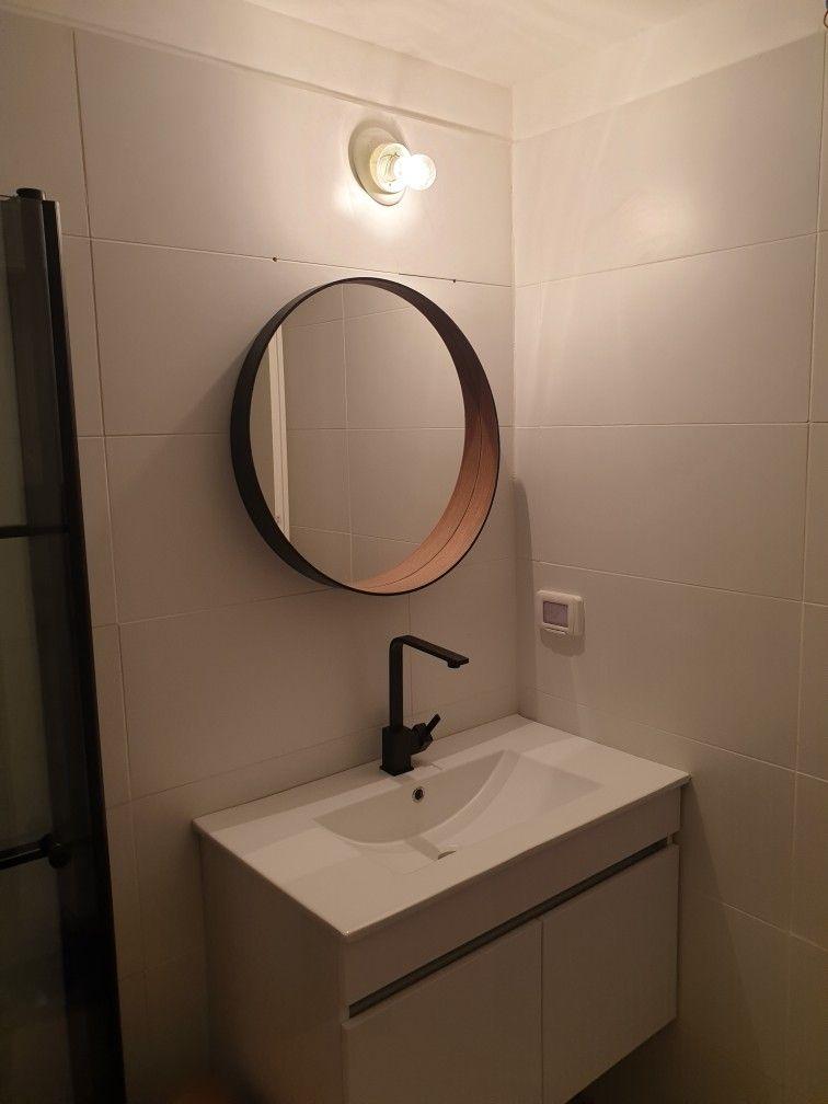 IKEA stockholm mirror hack in 2020 | Round mirror bathroom ...