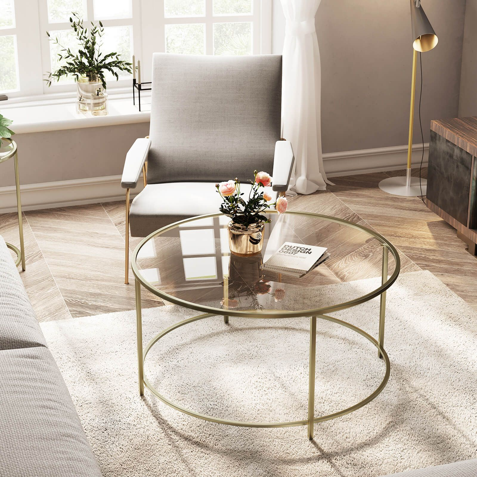 Round Glass Coffee Table In 2020 Glass Coffee Table Decor Living Room Table Table Decor Living Room #round #glass #tables #for #living #room