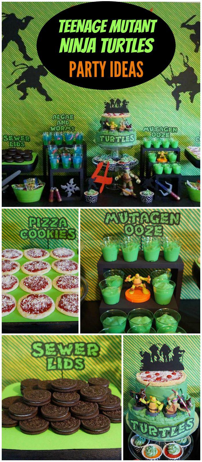 Teenage Mutant Ninja Turtles Birthday Luke S Teenage Mutant Ninja Turtles Party Catch My Party Teenage Mutant Ninja Turtles Birthday Party Ninja Turtles Birthday Party Ninja Turtle Party