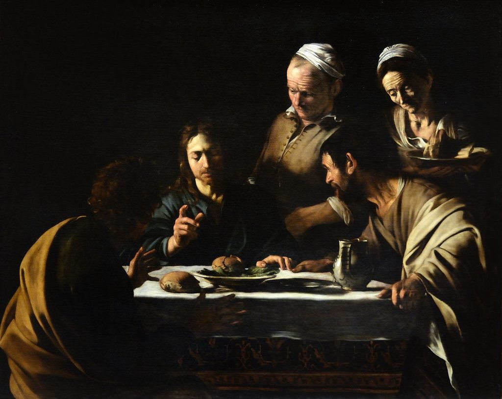 Cena in Emmaus, Caravaggio Acrylic on paper, 35x30cm