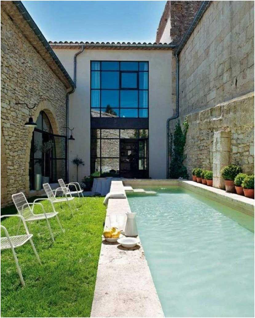 bilder pool für kleinen garten modern design mediterran schmal, Gartengerate ideen