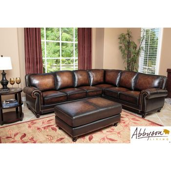 Venezia Leather Sectional And Ottoman Leather Sectional Leather Sectional Sofa Leather Sectional Sofas