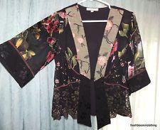 Spencer Alexis Petite P/S SP Black Mixed Design Open Jacket - Style NIG00P