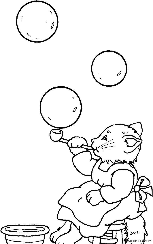Dorable Páginas Para Colorear De Burbujas Para Imprimir Composición ...