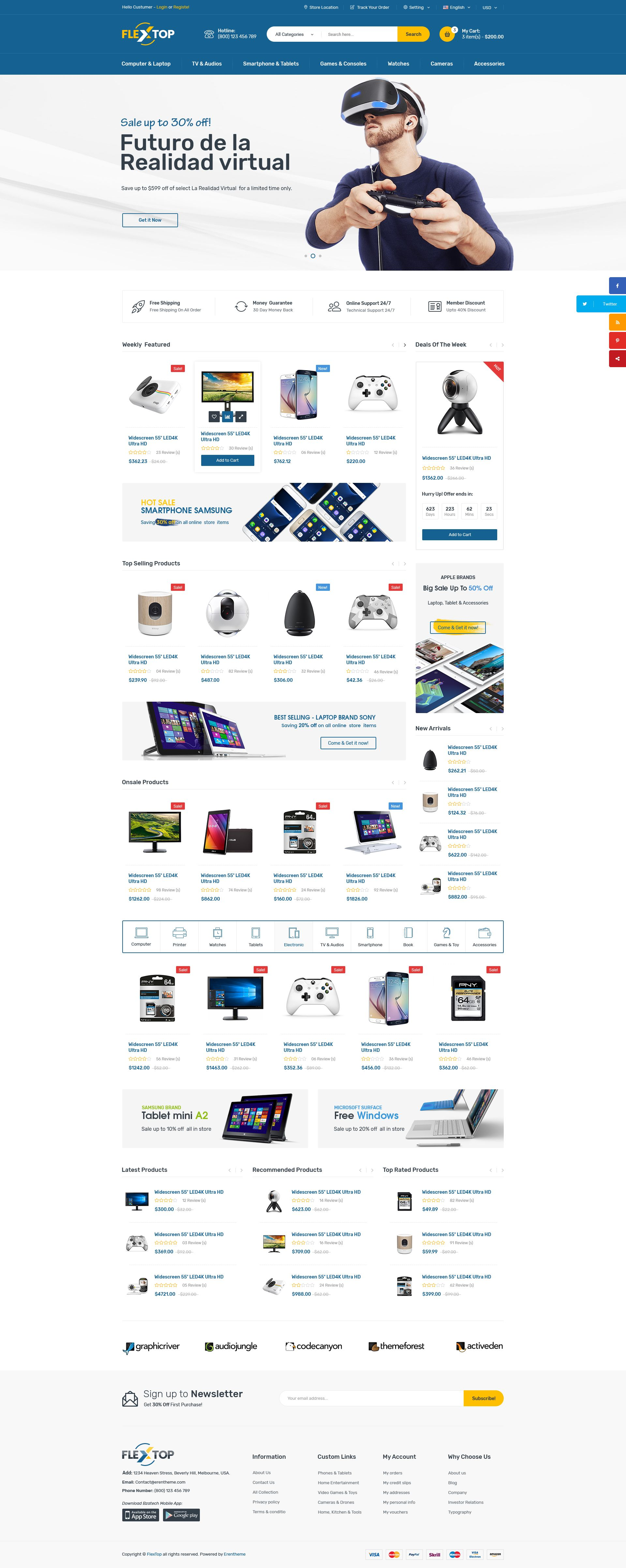 FLEXTOP - E-commerce HTML Bootstrap Template We are happy to ...