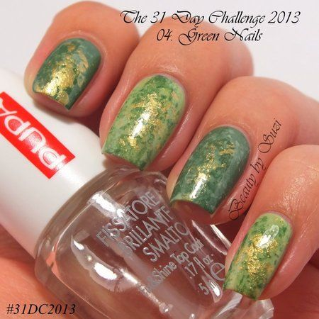 The 31 Day Challenge 2013: Green Nails#nails #Nailart - Bellashoot.com