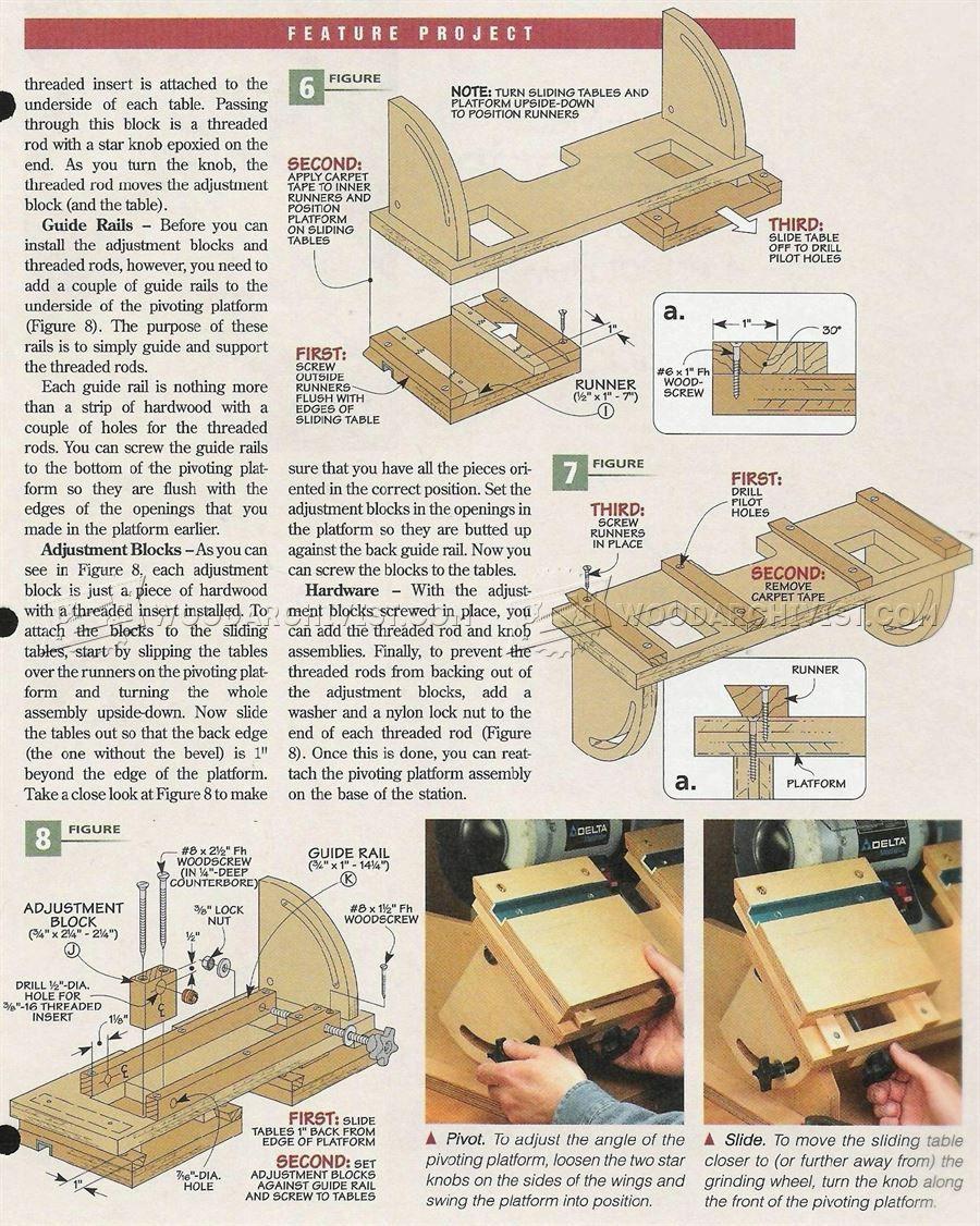 Fabulous 2570 Bench Grinder Tool Rest Plans Sharpening Bench Inzonedesignstudio Interior Chair Design Inzonedesignstudiocom