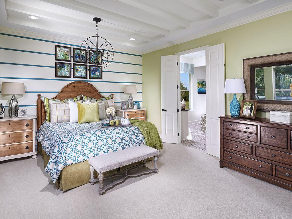 Master bedroom on first floor  Del Rio  Serenity Creek by Meritage Homes  Space games Serenity