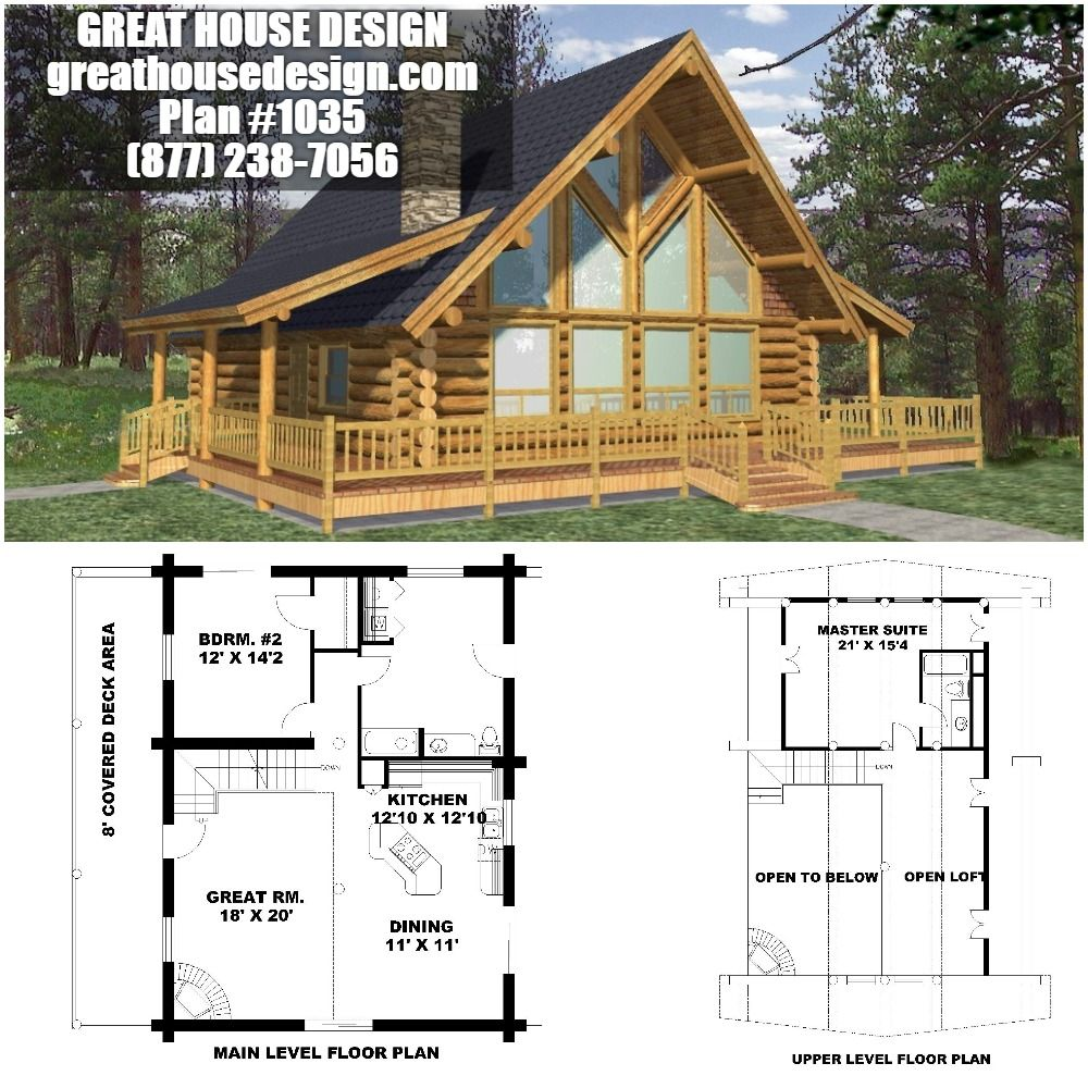 Home Plan 001 1035 Home Plan Great House Design House Plans House Design Log Cabin Homes