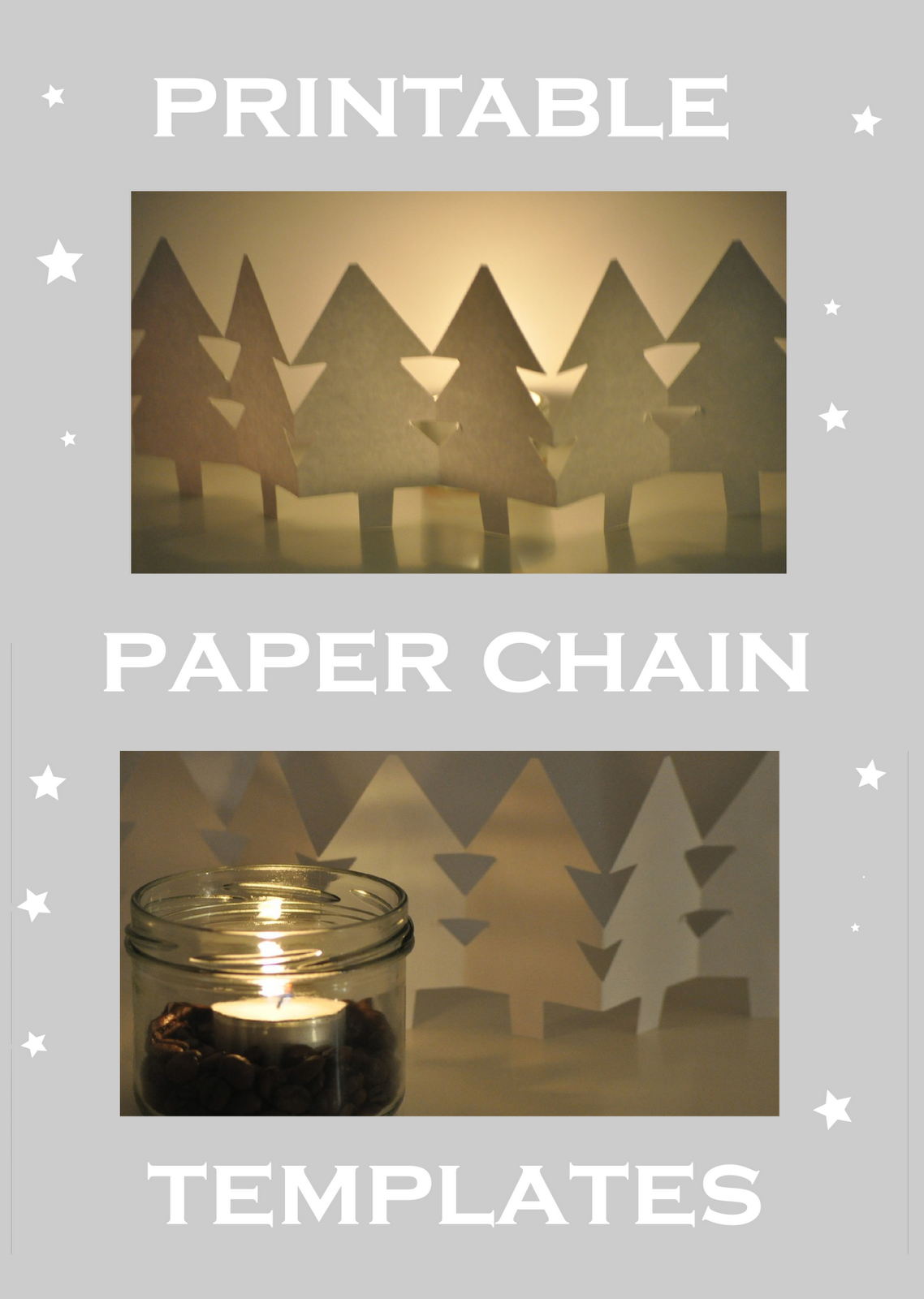 paper chain template for a snowman, a tree, a reindeer and an angel paper chain – Vorlage für Papierkette / Craft Jr