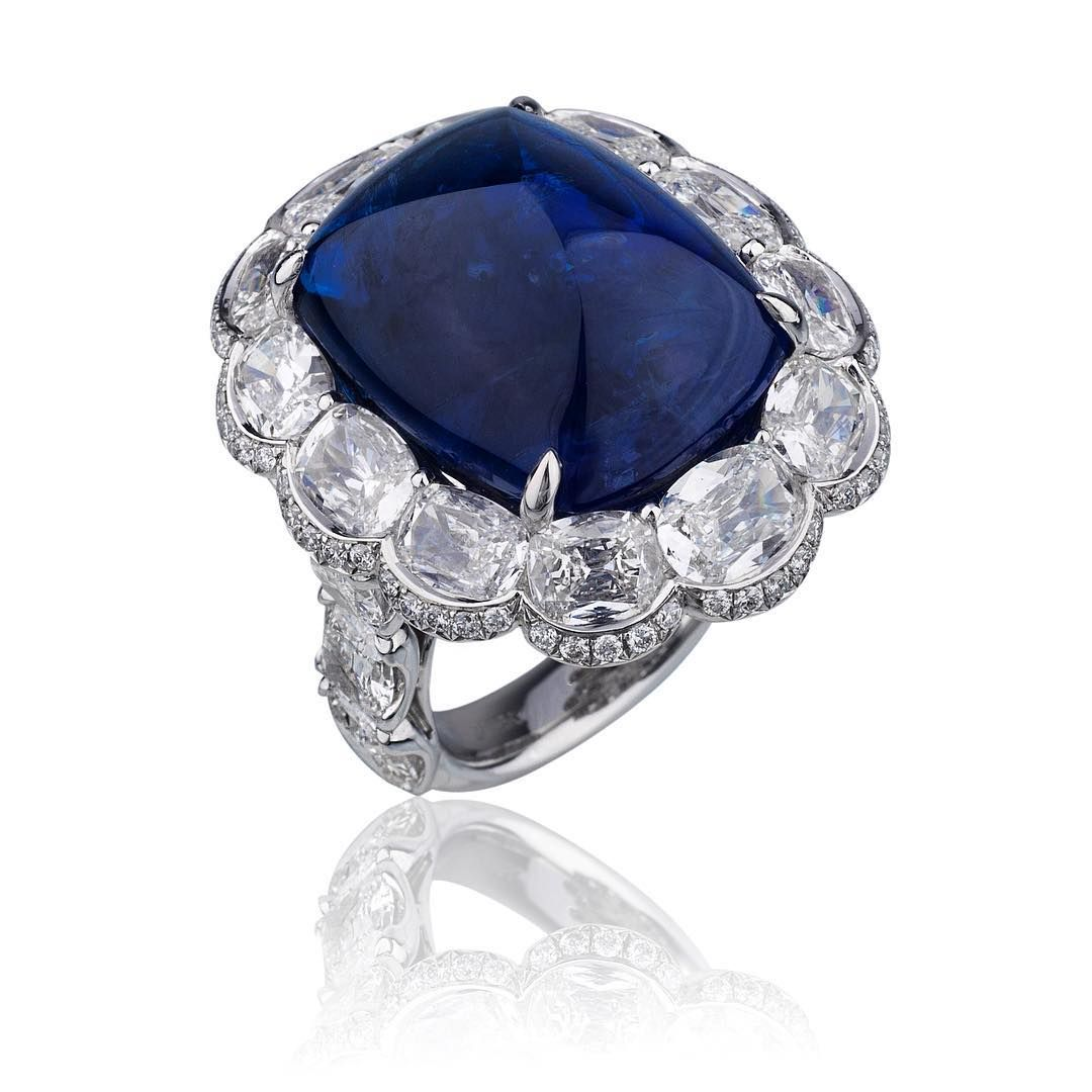 """30.96 carats #unique #innovative #creative #sapphire #diamonds #sugarloaf  #gottheblues #certified #grs #josephgad #king"""