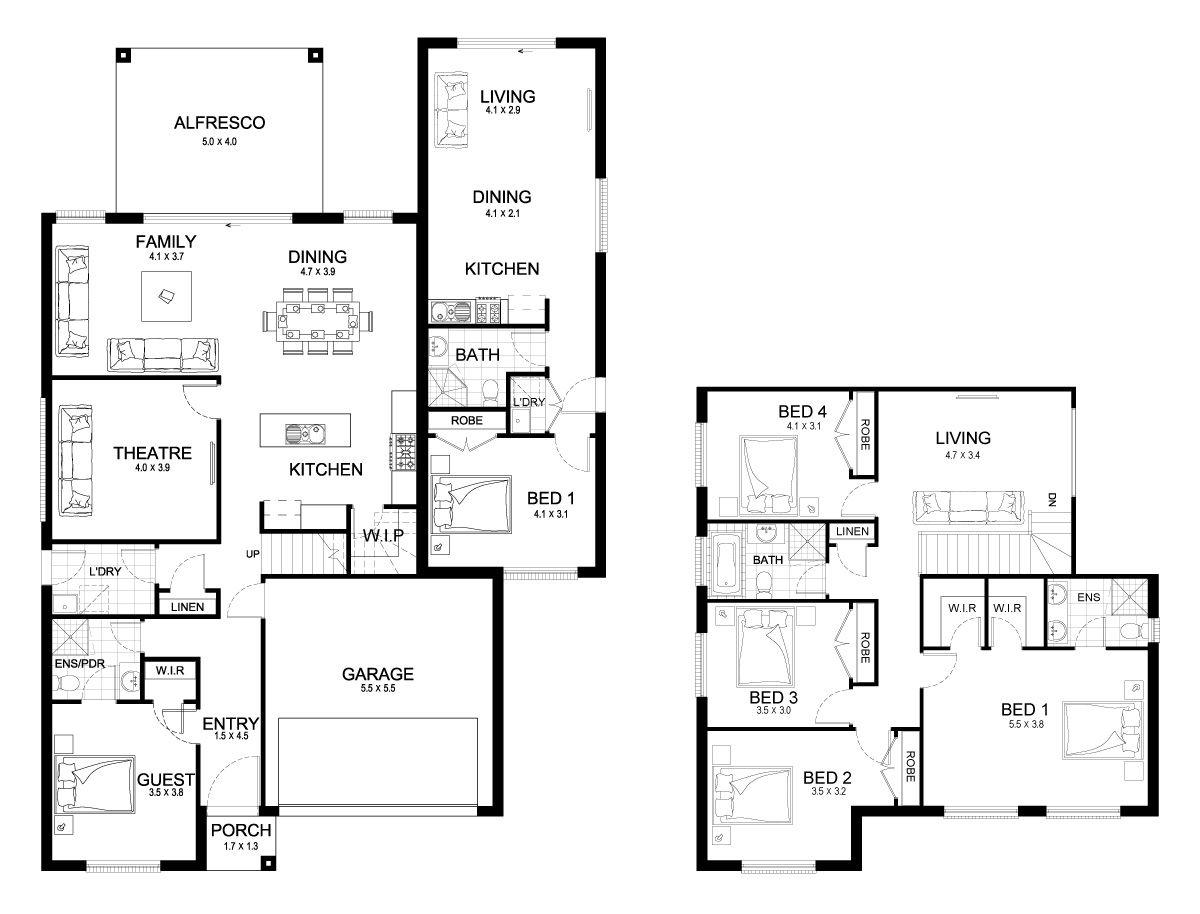 Evoque Dual 36 - dual-living Level - Floorplan by Kurmond Homes ...