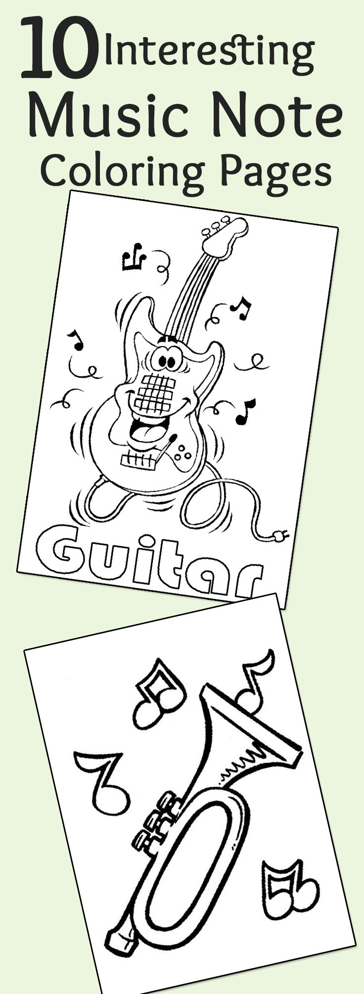 Top 10 Free Printable Music Notes Coloring Pages Online ... | coloring sheets for preschoolers