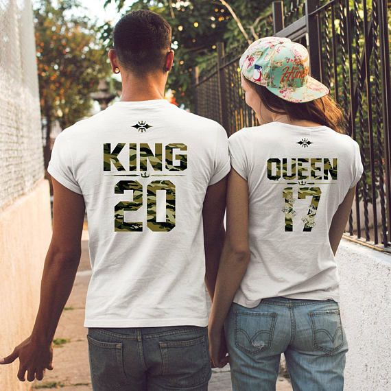 f31ebbcf King queen shirts, Couples shirts, Wedding gift, Honeymoon shirts, Matching  shirts, Engagement shirt