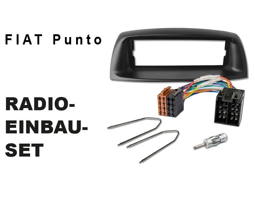 FIAT Punto Typ 188 Auto Radio Einbauset Blende Rahmen Adapter Kabel ...