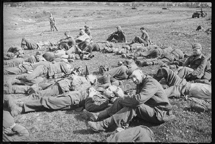 Пленные немецкие солдаты и офицеры под Орлом. | Военные ...