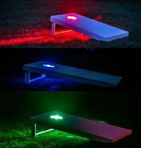 LED Cornhole Board Edge Night Lights Up Corn Hole Bean Bag Game Lights 3 Colors