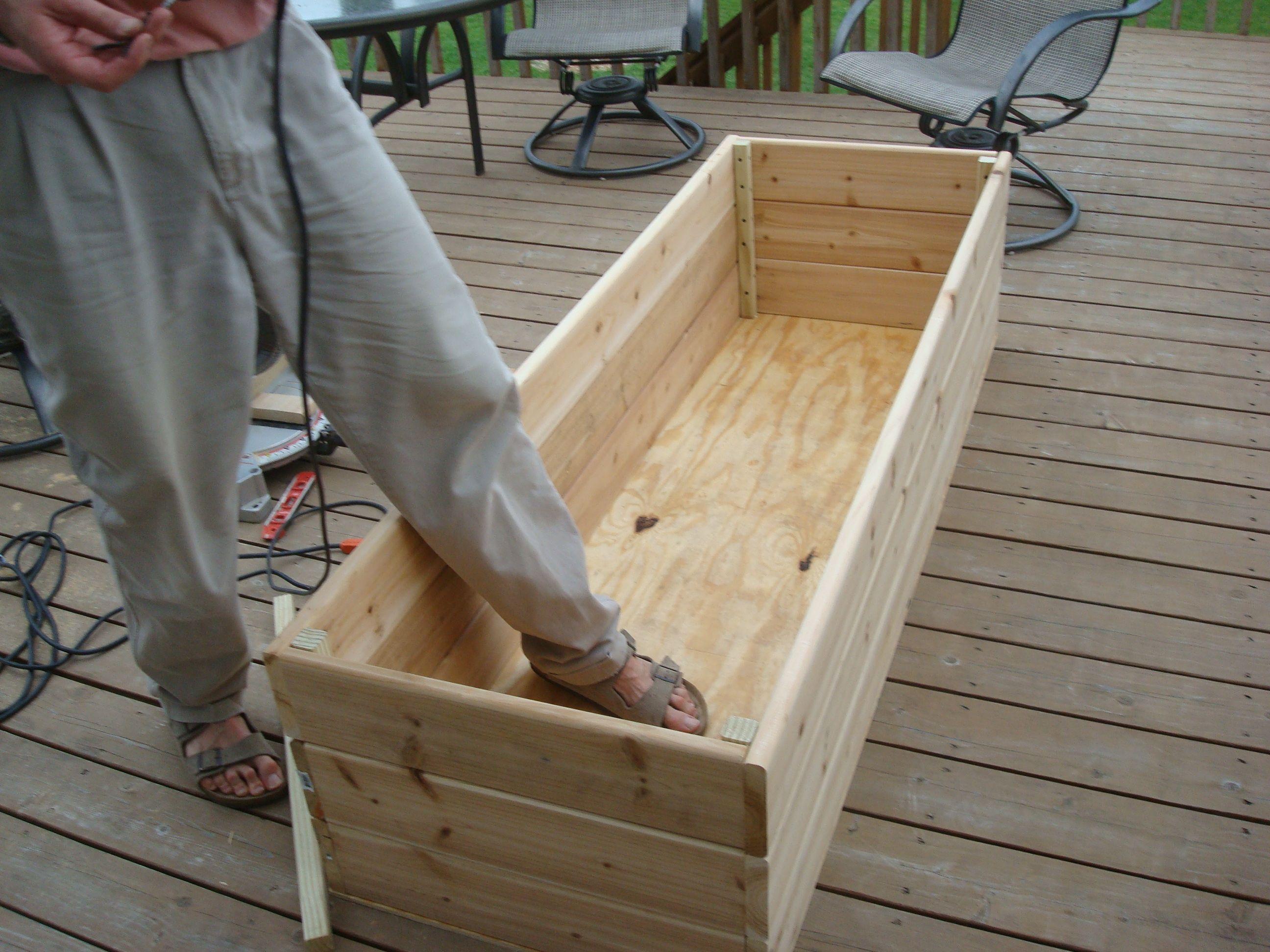 Diy Deck Planter Box Plans Wooden Pdf Adirondack Chair 400 x 300