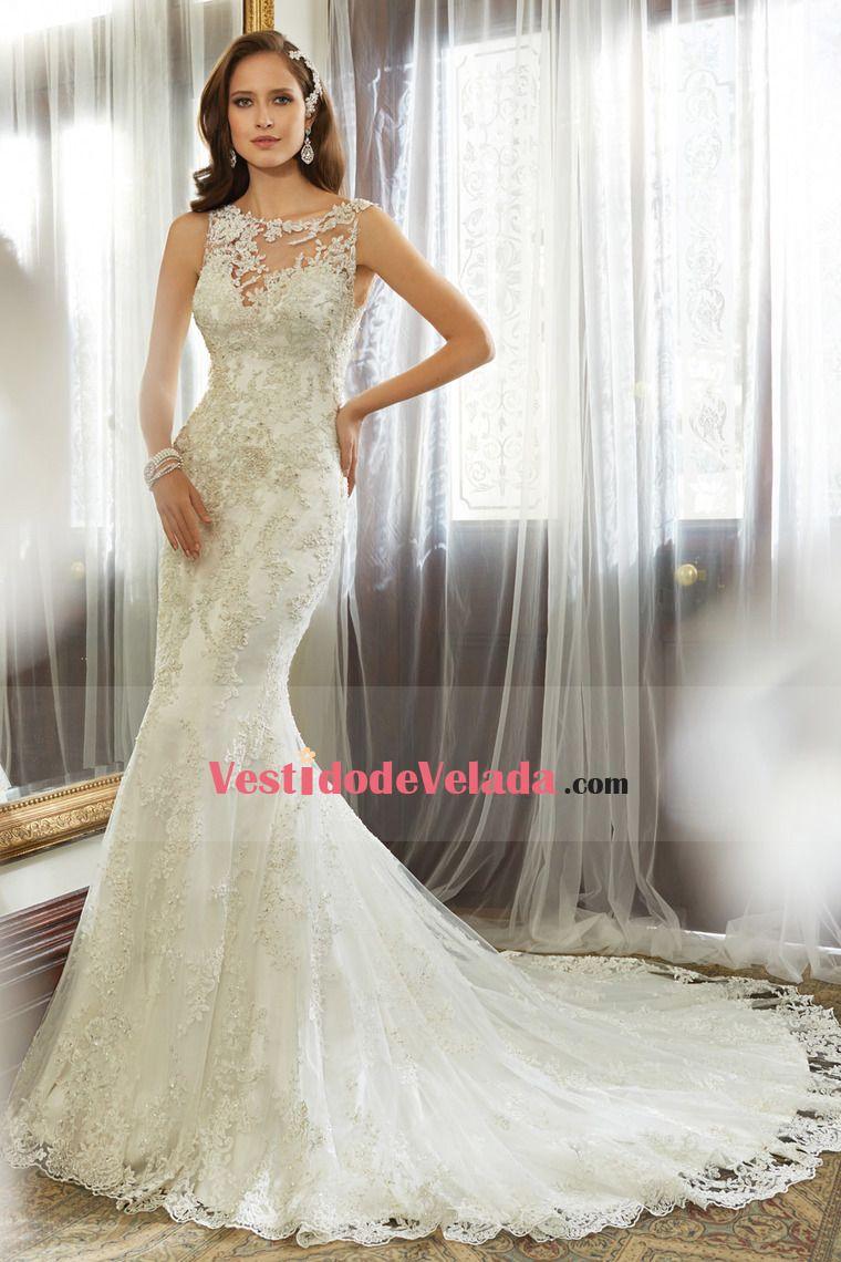 Vestidos de novia Sirena / Trompeta Cuello de forma de corazón Cola ...