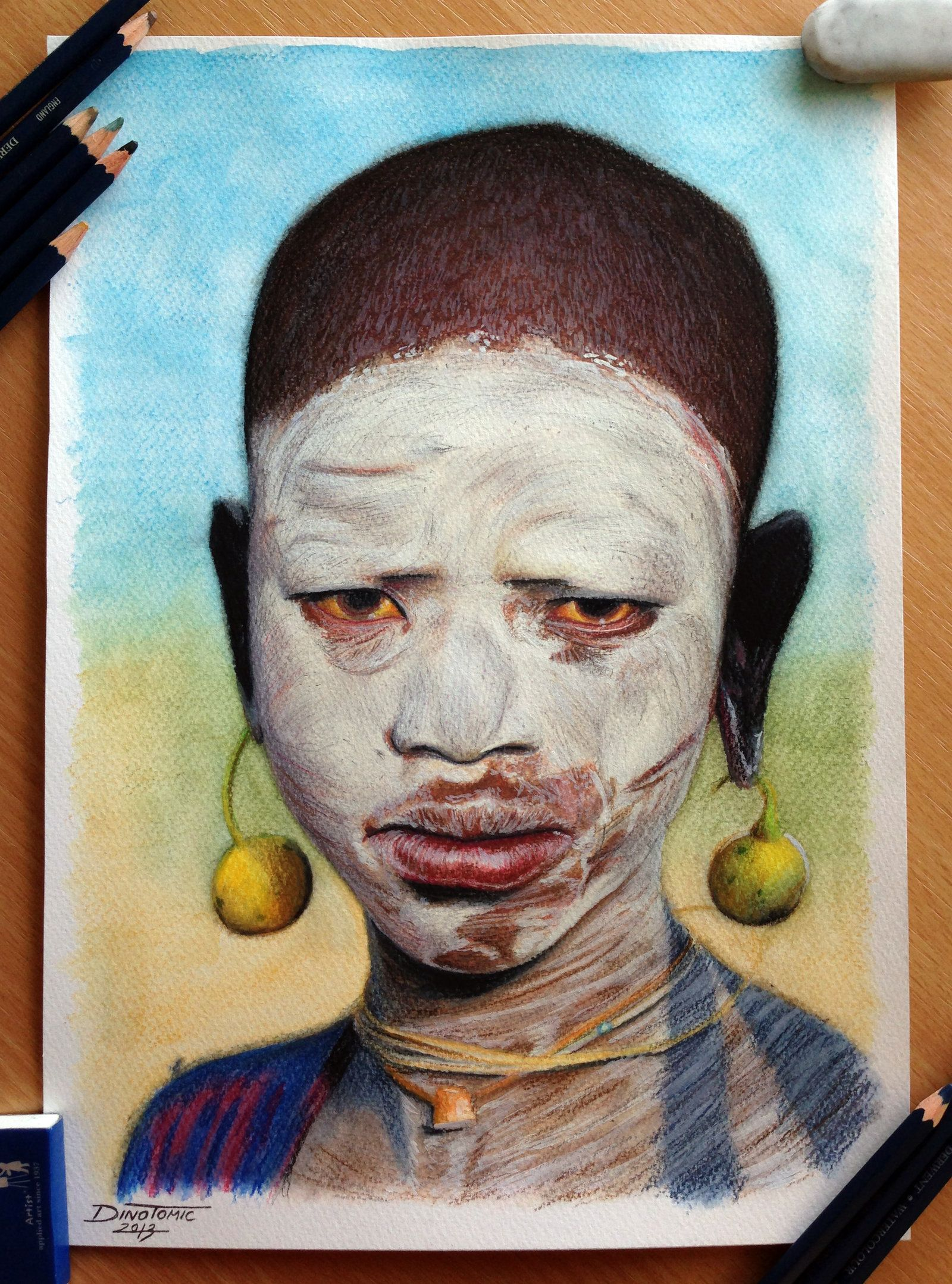 African child color pencil drawing by atomiccircus deviantart com on deviantart
