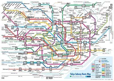 Tokyo Japan Subway Map Tokyo Subway Subway Map