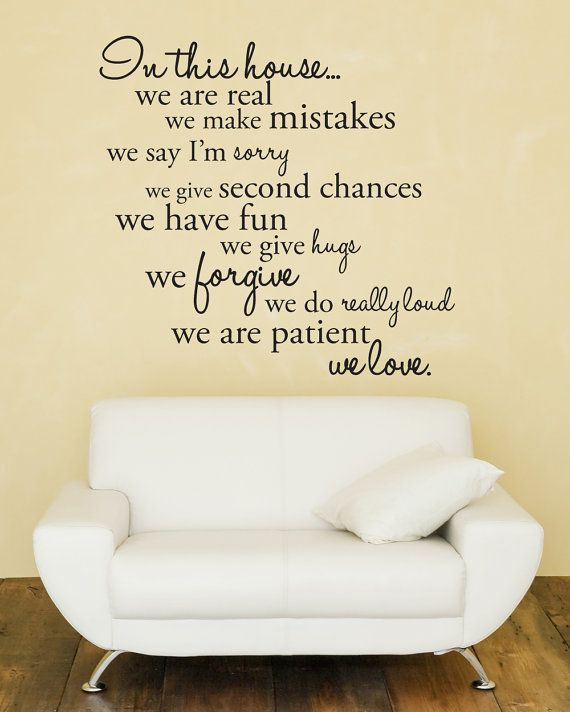 maybe above my stairs? Great Sayings Pinterest Citation, Mur - stickers dans cette maison