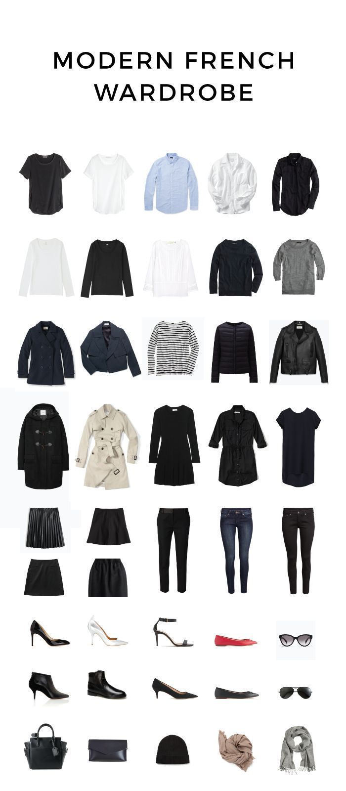 French Capsule: Modern French Wardrobe For Fall And Winter