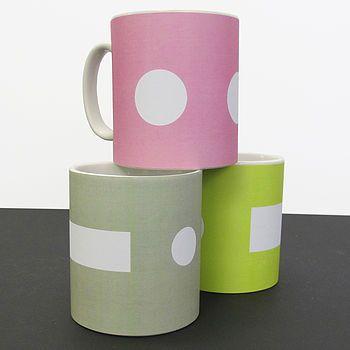 morse code mugs