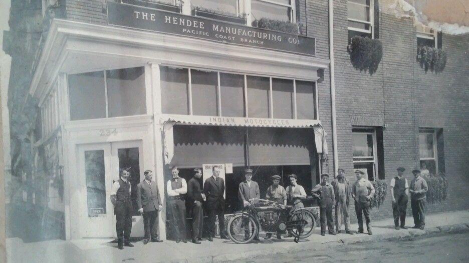Original 1900s Indian Motocycle Photograph Photo Store Front San Francisco Calif