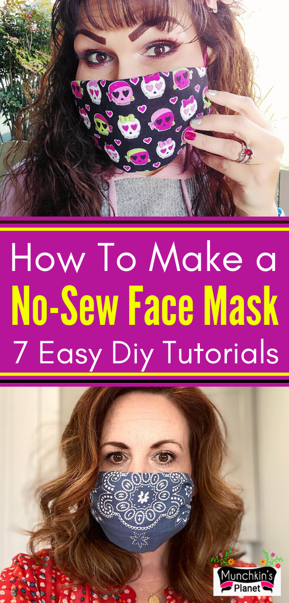 Pin on Homemade No Sew Face Mask DIY Ideas