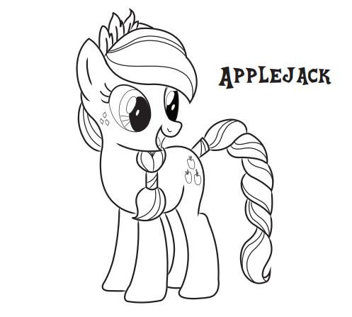 Draw Samples: Apple Jack My Little Pony Coloring Page