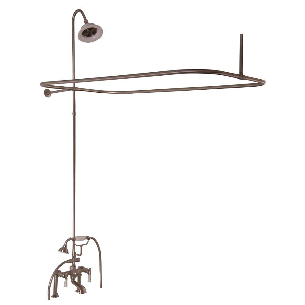 Barclay Products 3-Handle Claw Foot Tub Faucet with Hand Shower and ...