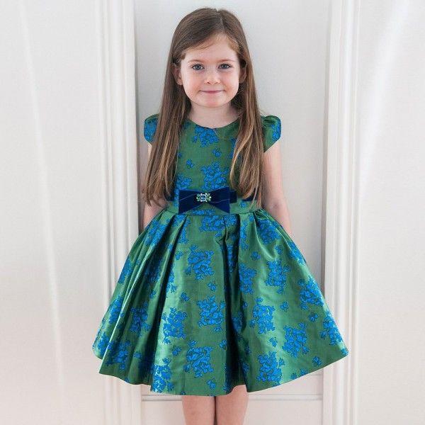 e437bf70b DAVID CHARLES Green & Blue Brocade Dress   Children's Dope Clothes ...