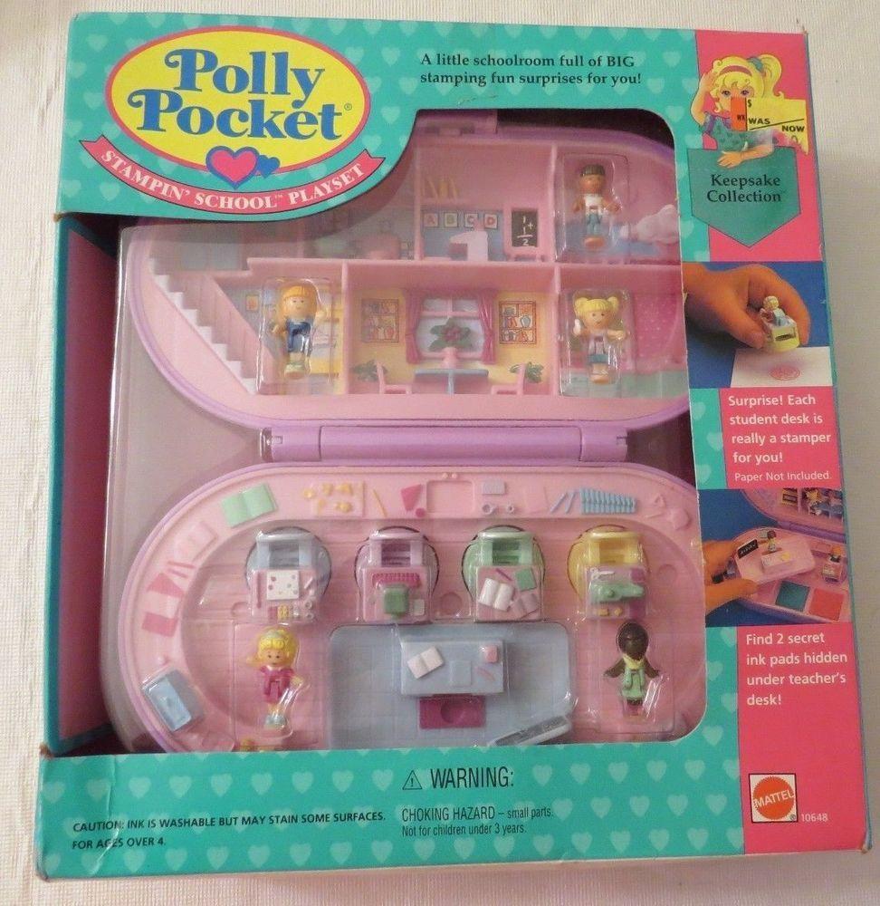 Vintage Polly Pocket Stampin School NRFB - 125