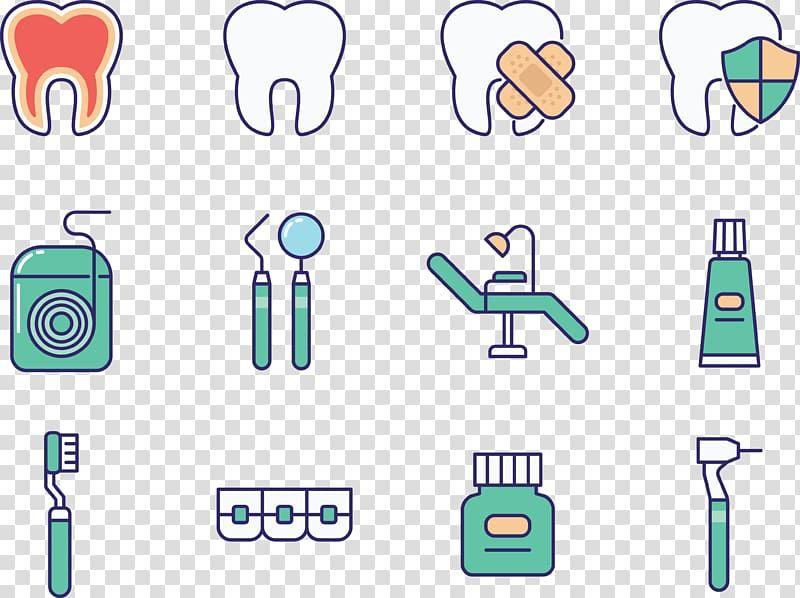 حلو اللون أدوات طب الأسنان تصوير فرشاة أسنان علاج الأسنان بسبب ألم الأسنان Png Free Png Clip Art Free