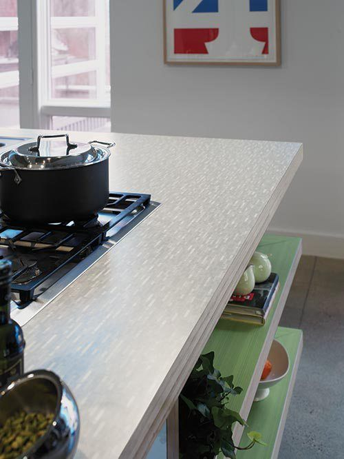Formica in a cool retro but subtle pattern. | kitchen | Pinterest