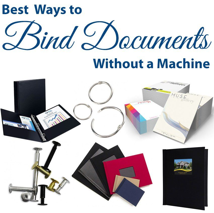 What Are The Best Ways To Bind Documents Without A Machine