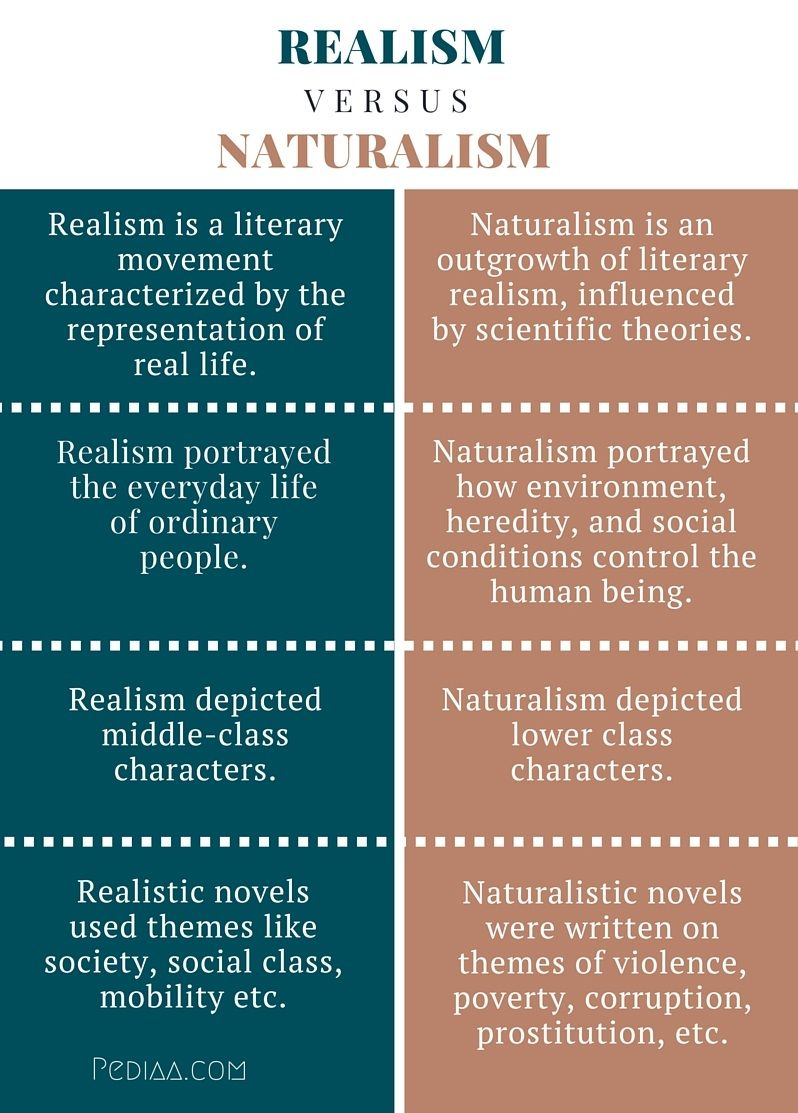 difference between realism and naturalism   infographic  poster  difference between realism and naturalism   infographic