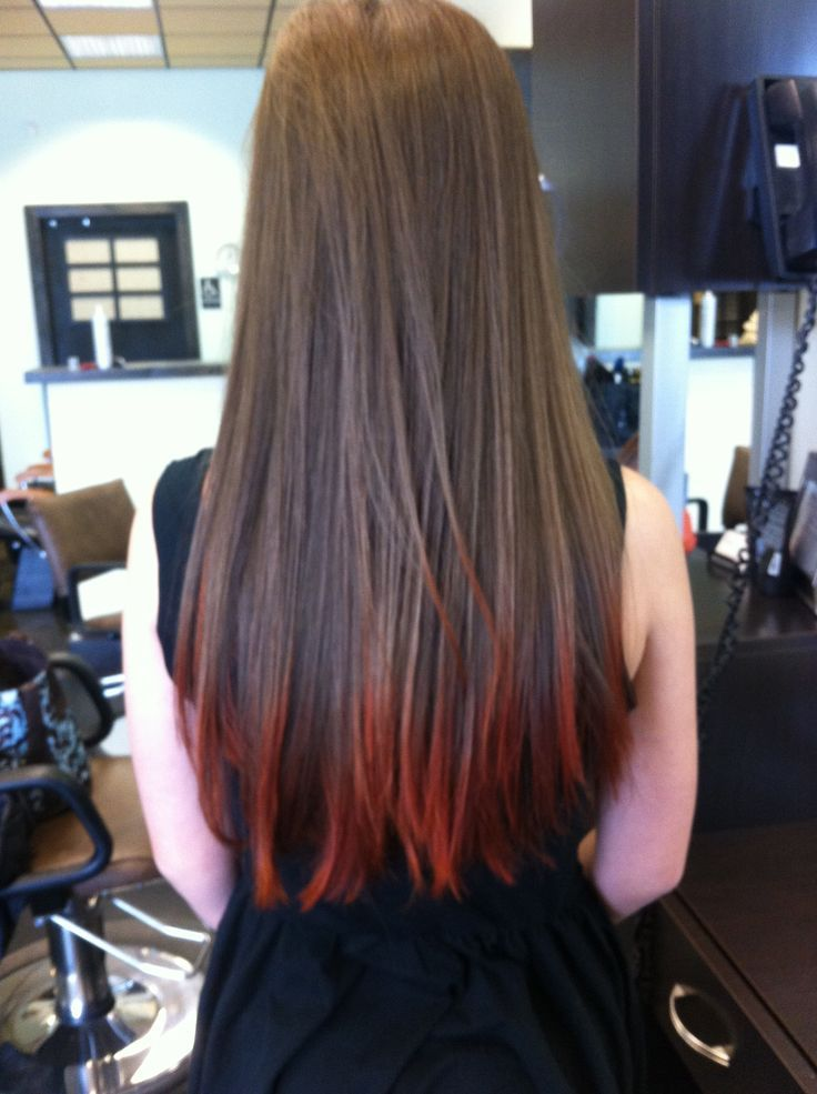 Red Tips On Brown Hair Fun Blonde Hair Tips Red Hair Loreal Hair Color Pictures
