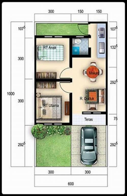 Rumah Minimalis 4x8 batu in 2019