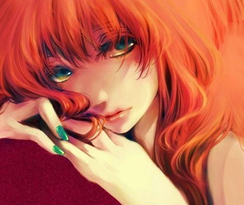 anime girl girls - redheads