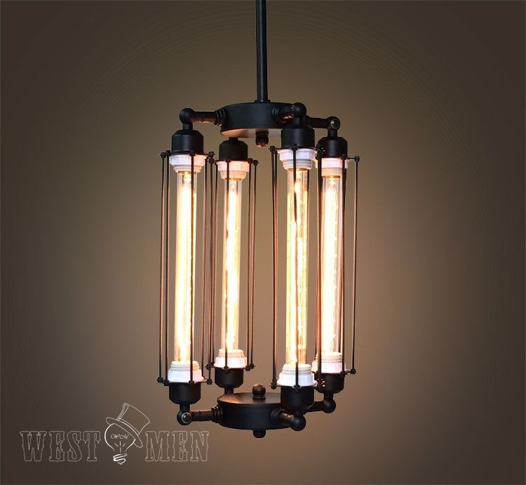 Cube Cage Chandelier Steampunk Ceiling Lamp Vintage Industrial Pendant Light Verlichting Lampen Hanglamp